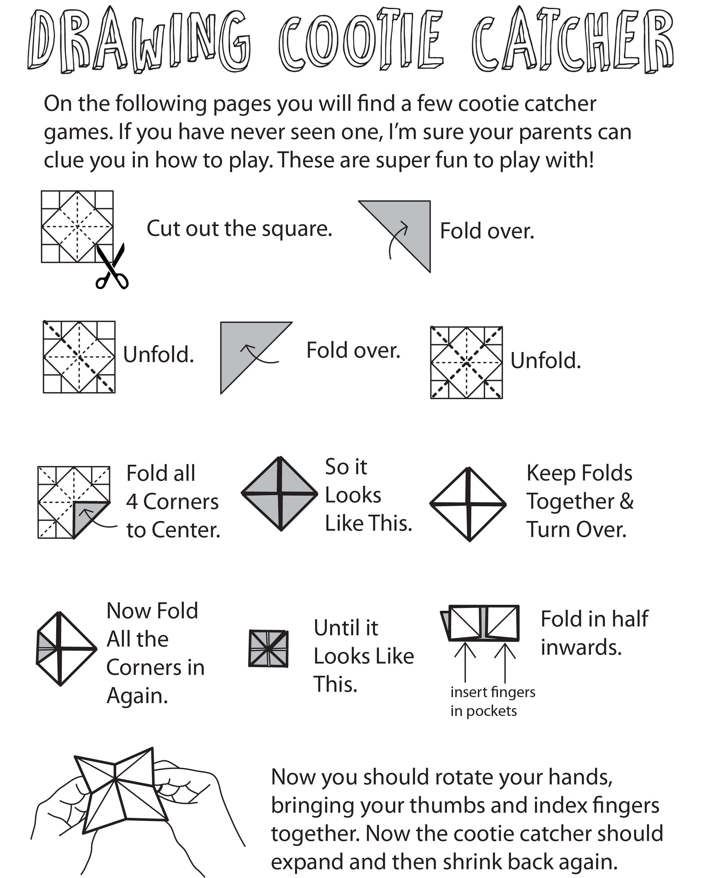 How To Play The Cootie Catcher Drawing Game Fun For Kids Who Love To Draw Step By Step Instructions Cootie Catcher Drawing Games How To Draw Steps