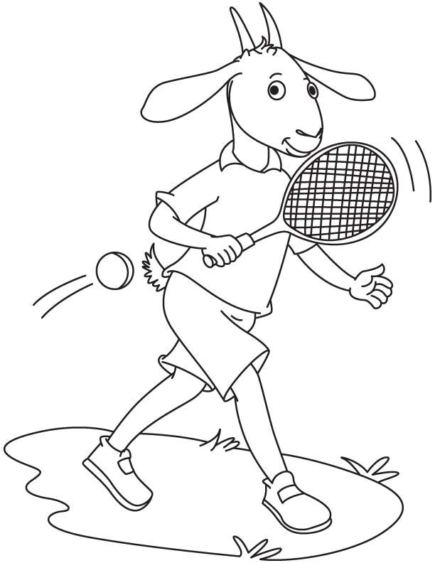 Goat Playing Tennis Coloring Page Download Free Goat Playing Tennis Coloring Page For Kids Coloring Pages Silhouette Crafts Coloring Pages For Kids