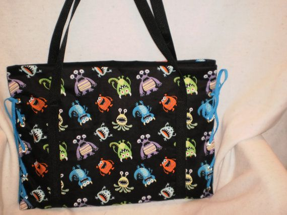 Monster Diaper Bag By Bagsbyjune On Etsy 30 00 Hmmm I Like This Too