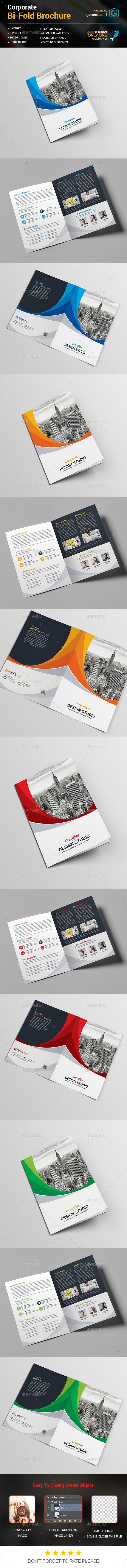 Bi-Fold Business Brochure Template | Pinterest