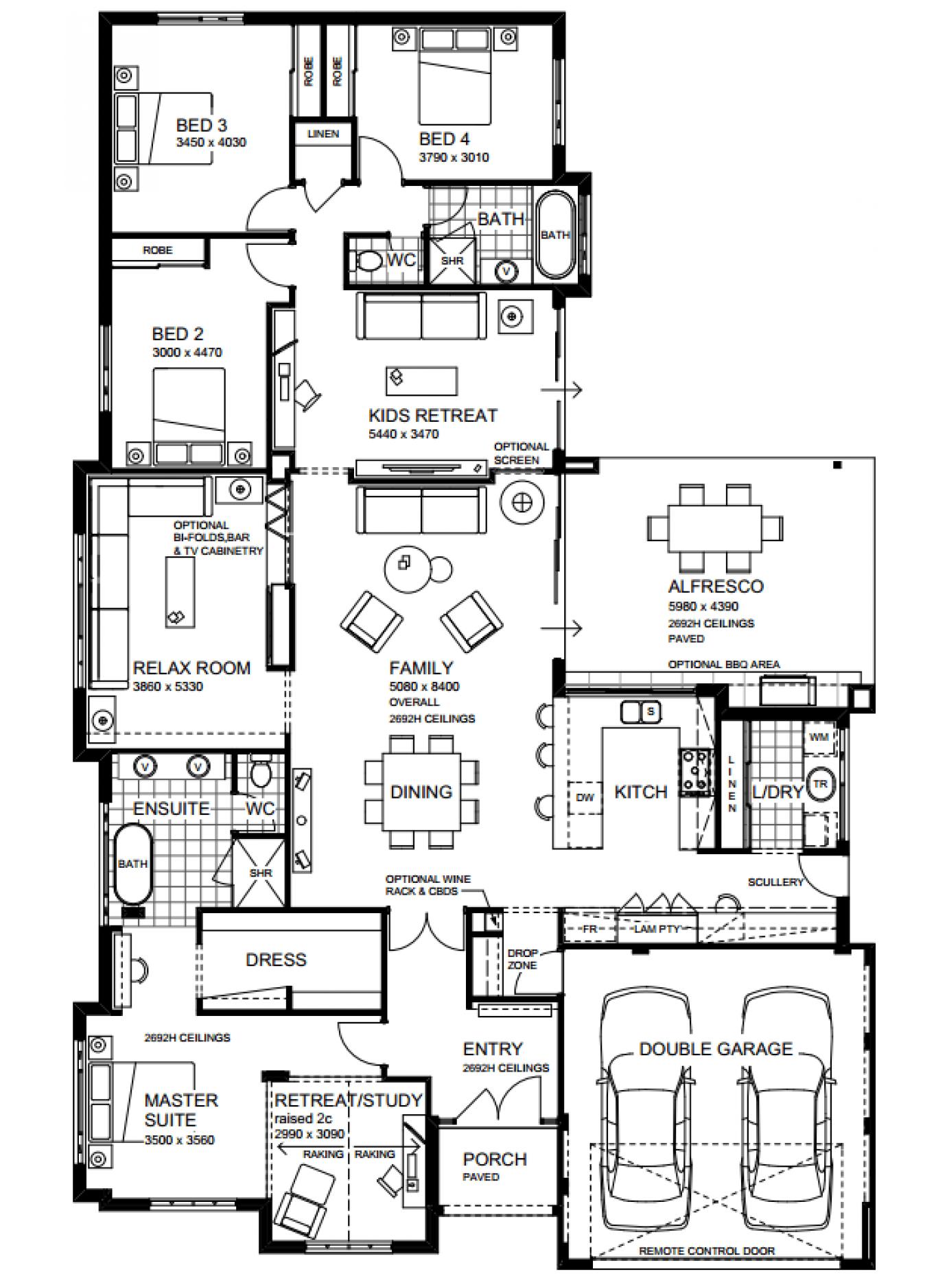The Hampton Beach By The Rural Building Co Family House Plans Home Design Floor Plans Home Design Plans