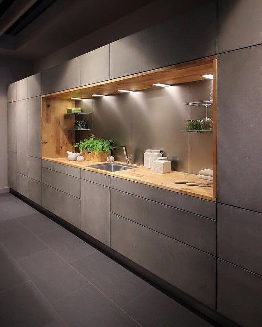 цвет бетона кухня