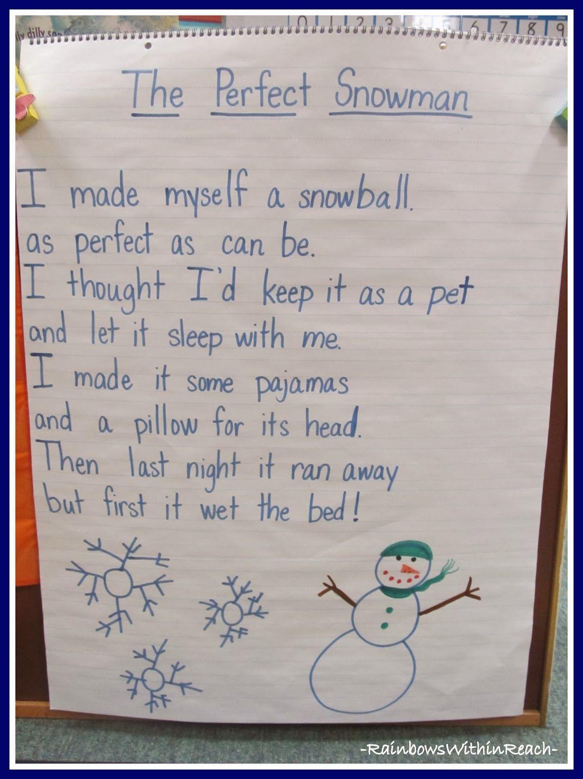 Snowflake Symmetry In Kindergarten Anchor Charts
