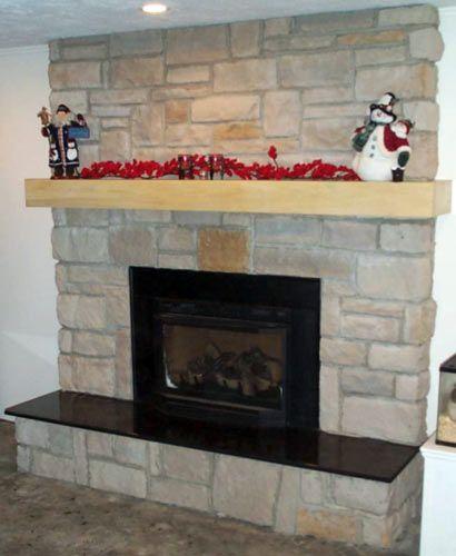 black granite hearth - A Contemporary Fireplace In El Capitan Gray Blend. The Black