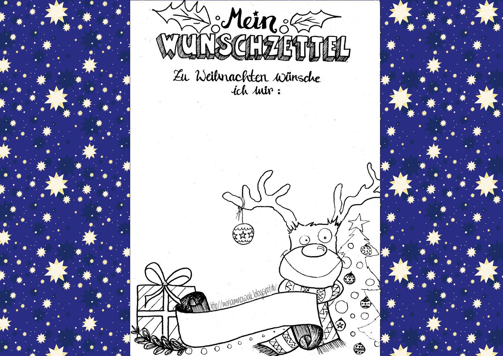 freebie weihnachtswunschzettel  wunschzettel brief