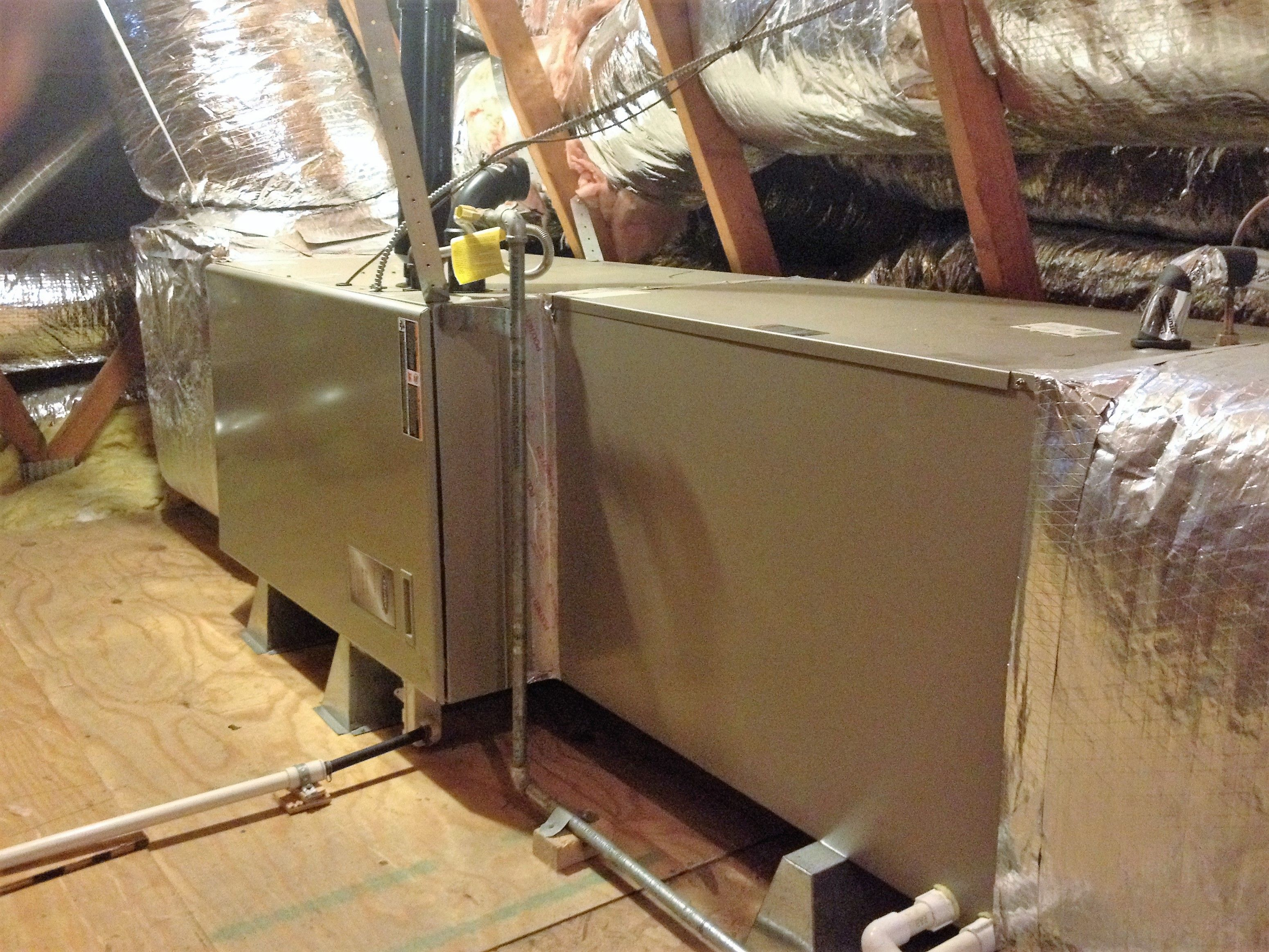 Carrier furnace horizontal installation in attic