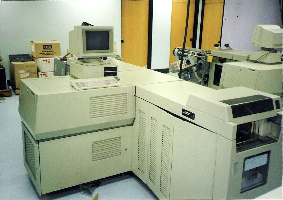1970s Xerox 9700 Electronic Printing System Retro Office Desk