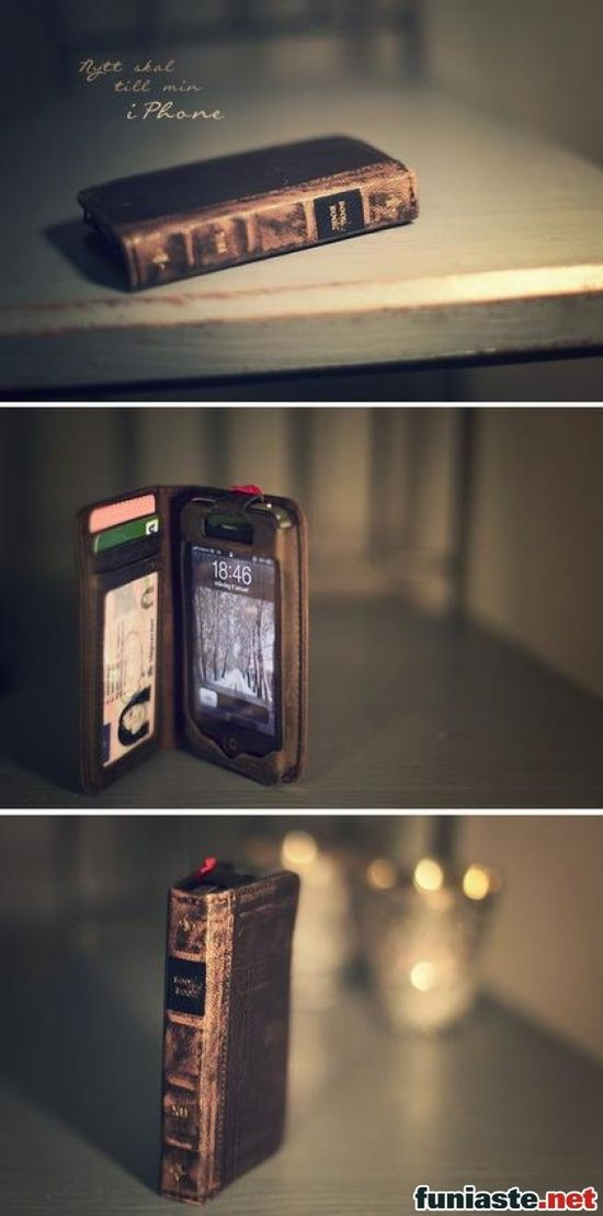 IPhone. Old book case. Perfect.