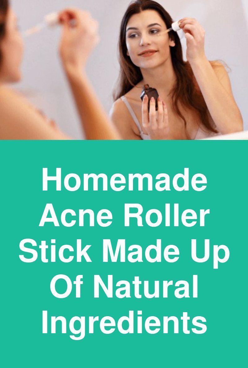 Homemade Acne Roller Stick Made Up Of Natural Ingredients Do it yourself  all natural acne spot