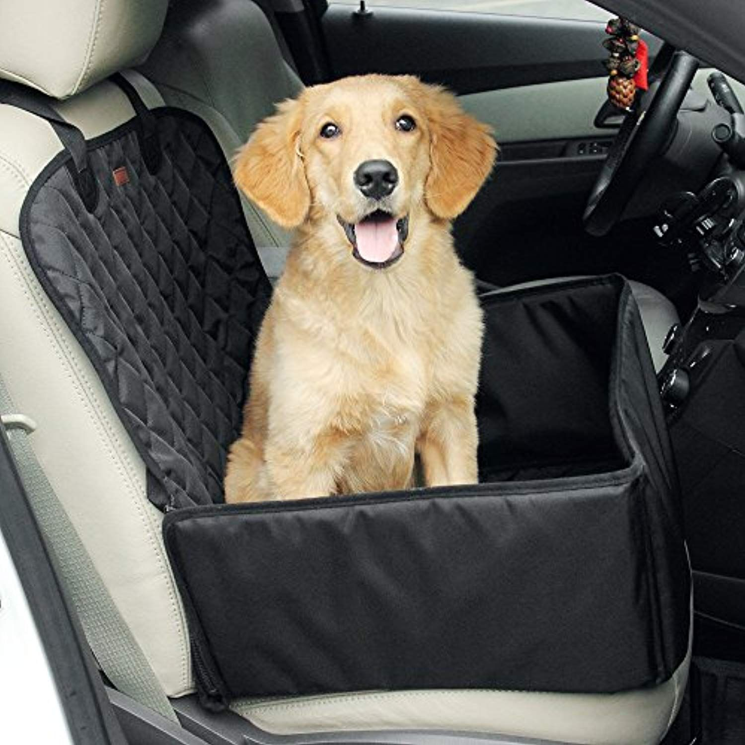 Amorus 2 In 1 Waterproof Dog Pet Car Seat Covers Washable Automotive Cat Carrier For Travel Black Rea Pet Car Seat Covers Pet Car Seat Dog Car Seat Cover