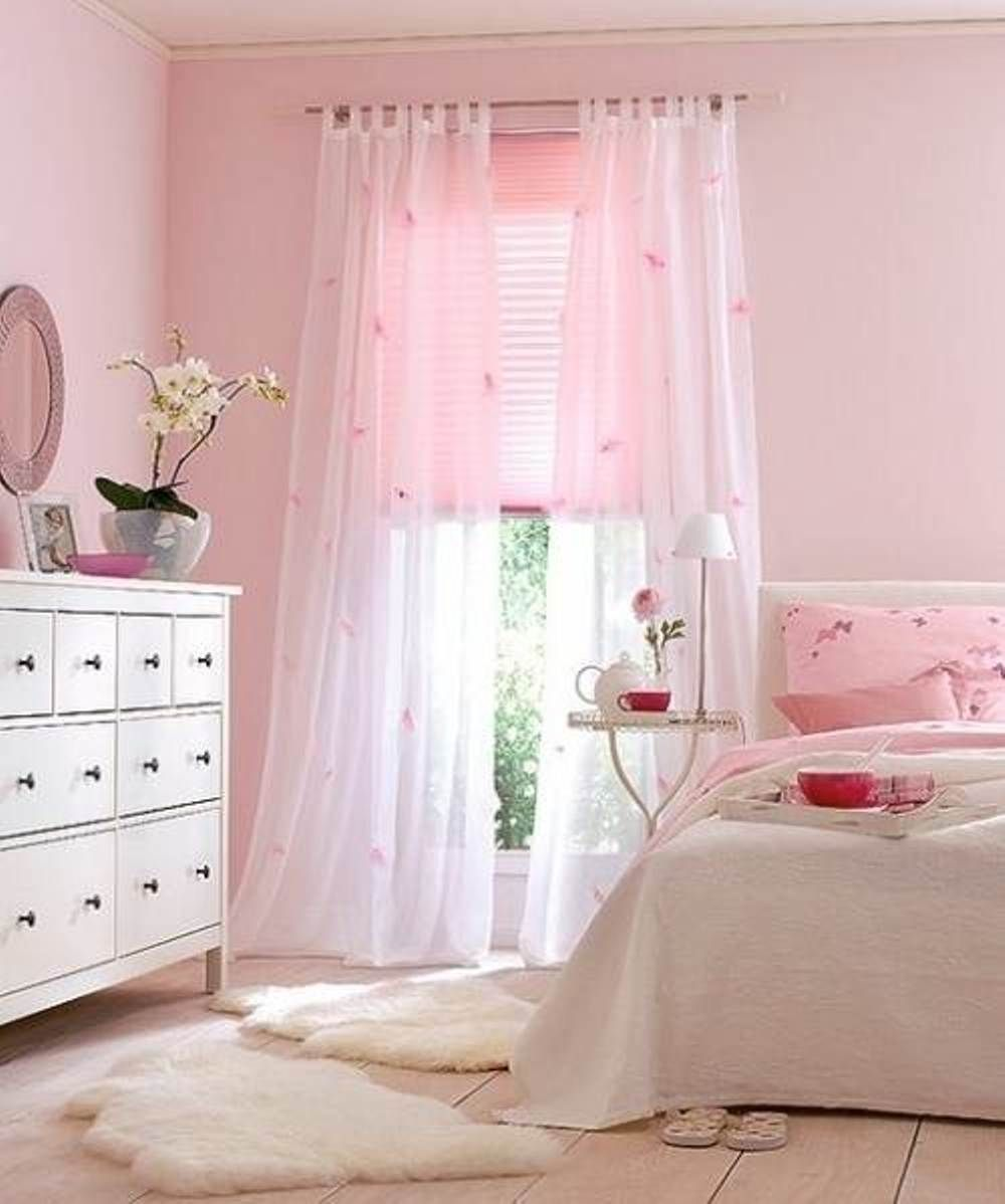 Sheer Pink Curtain Ideas For Bedroom Great Curtain Ideas For