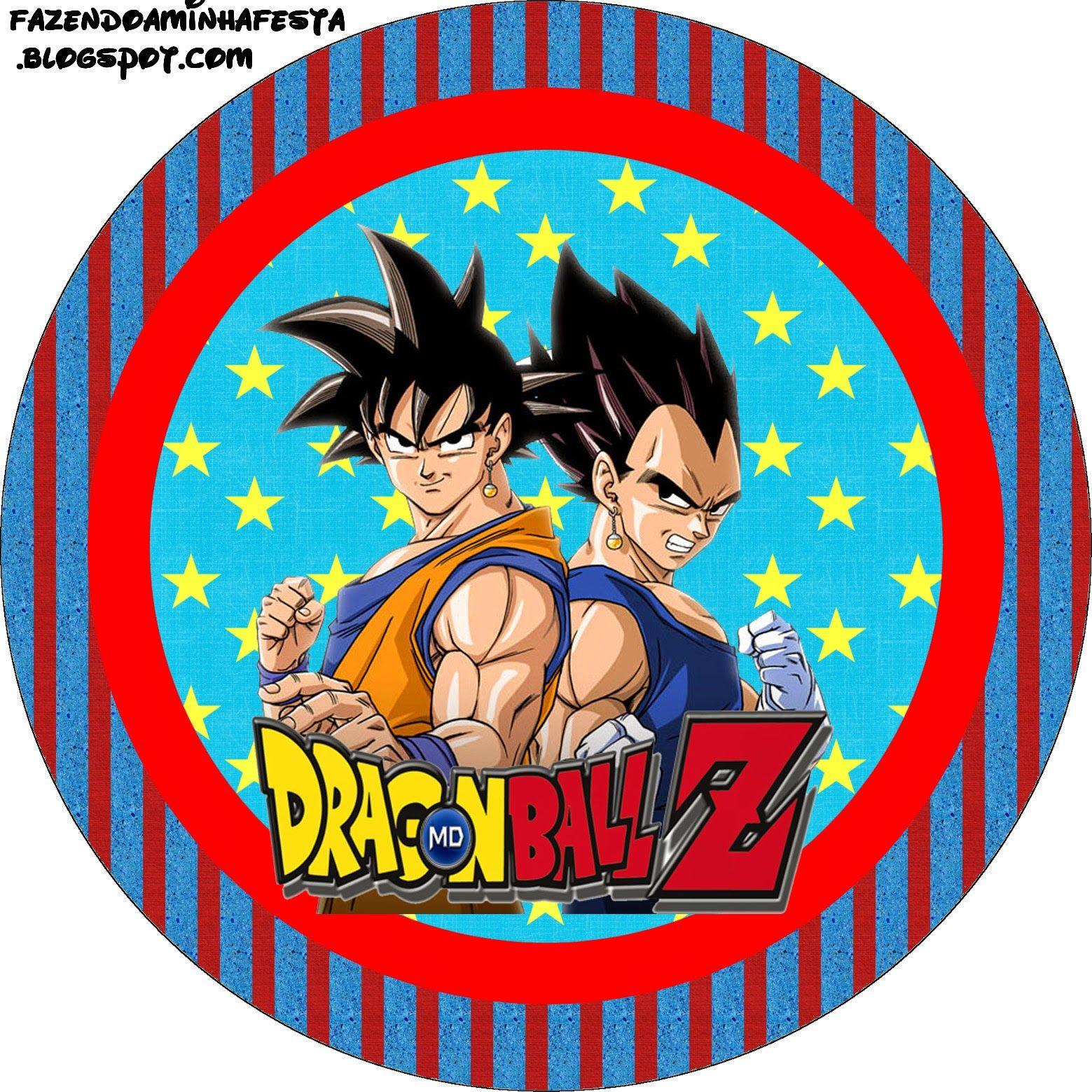 Dragon Ball Z Free Printable Candy Bar Labels