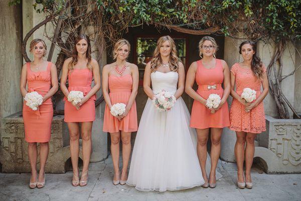 Coral Santa Fe Springs Wedding