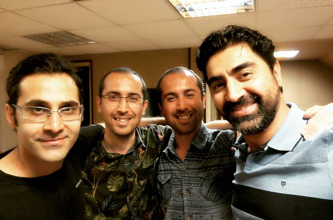 With Iranian famous voice actor Mr.alimardani From right