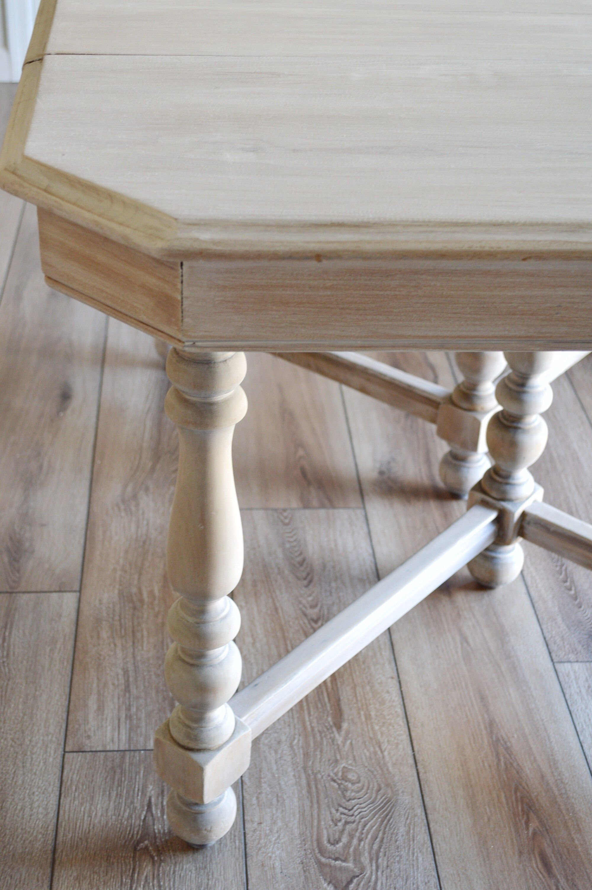 Bleaching My Antique Table Antique Dining Tables Furniture