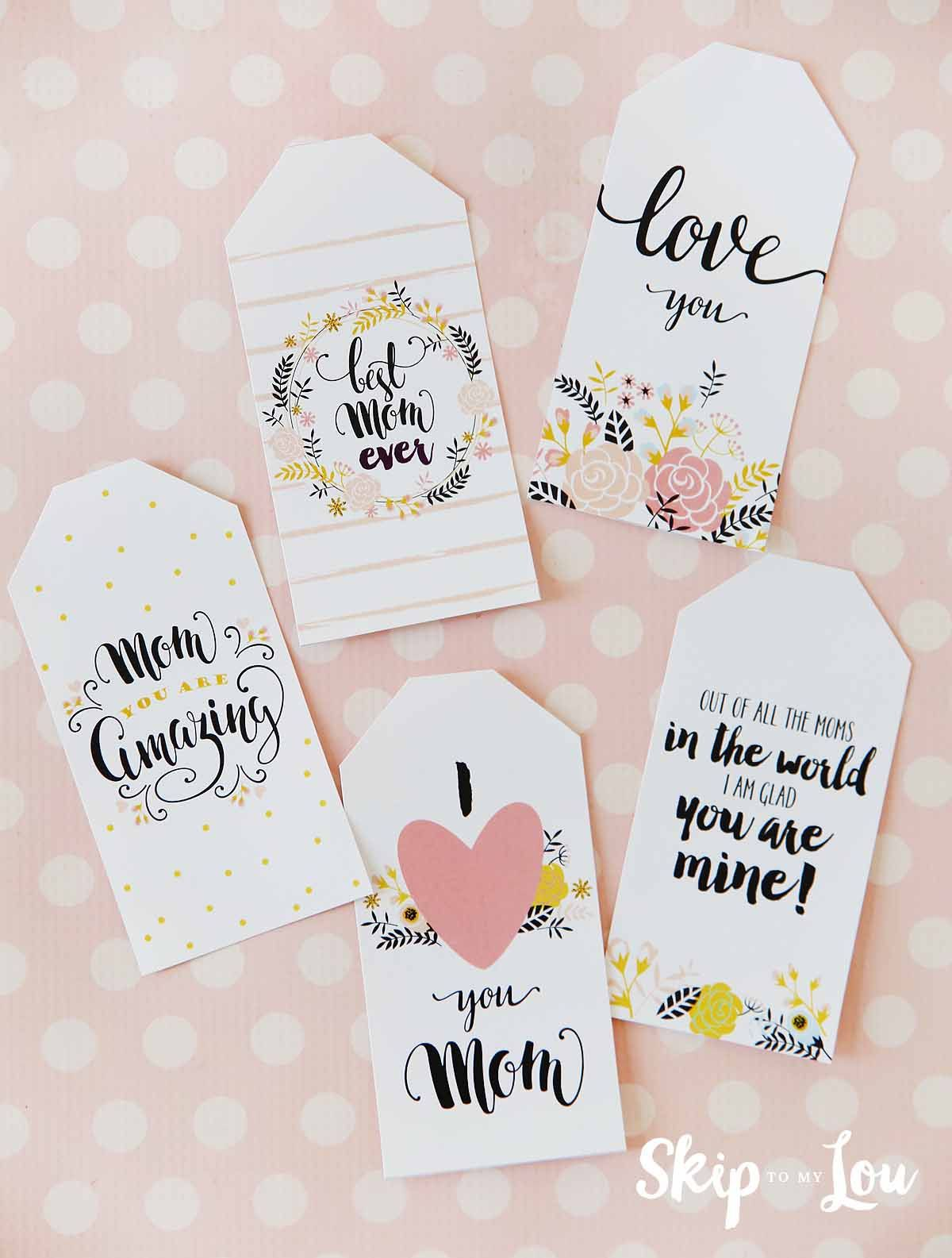 picture relating to Free Printable Mothers Day Tags identified as 6 Desirable No cost Printable Moms Working day Tags for your items