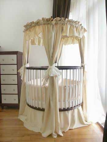 Love the round crib! | yhasira | Pinterest | Moises, Cunas redondas ...