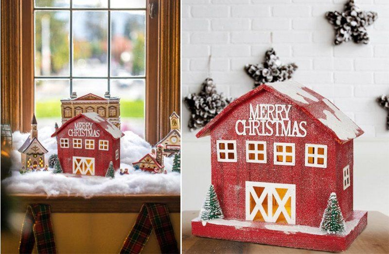 Merry Christamas from the farm!  #christmasbarn #barndecor #farmhousechristmas #merrychristmas