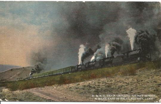 Postcards In The Attic Denver And Rio Grande Railway D R G Train Crossing Soldier Summit East Of Salt Lak Train Vintage Postcards Travel Vintage Postcard