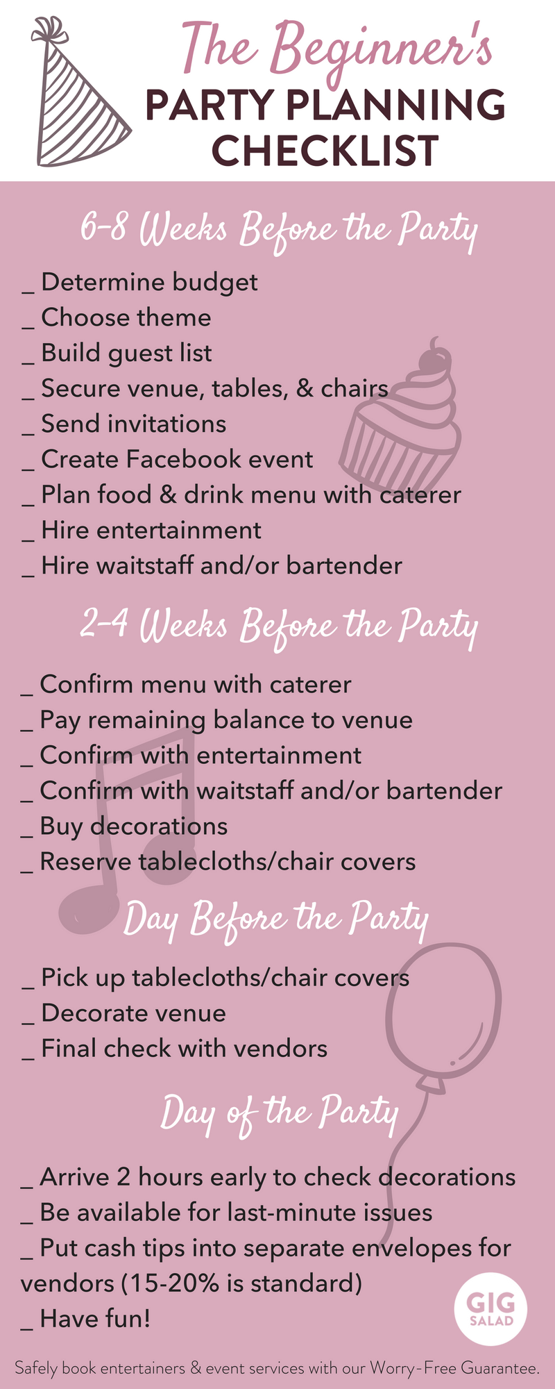 WeVe Created An Easy Party Planning Checklist For You Beginners