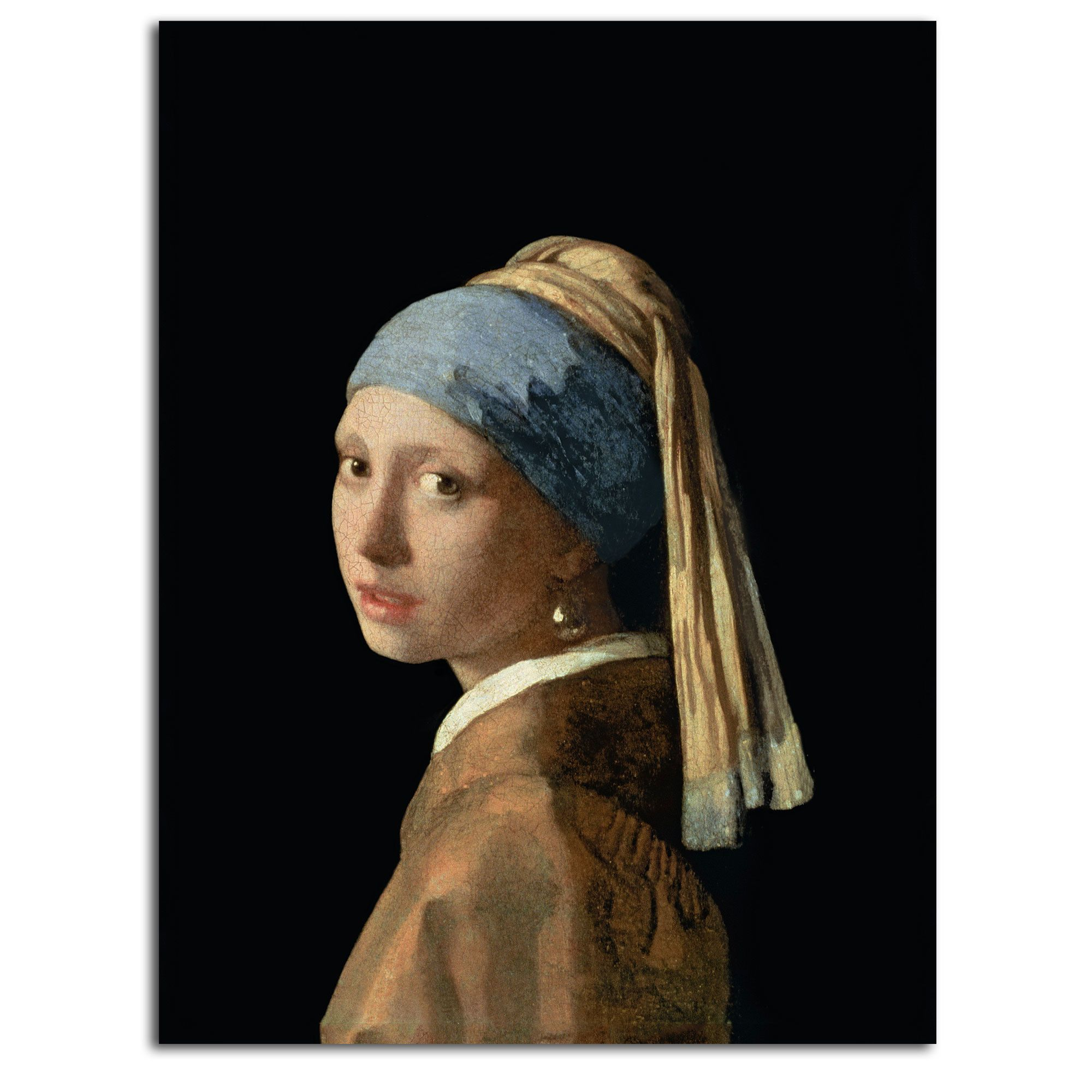 'Girl with a Pearl Earring' Print on Canvas Art girl