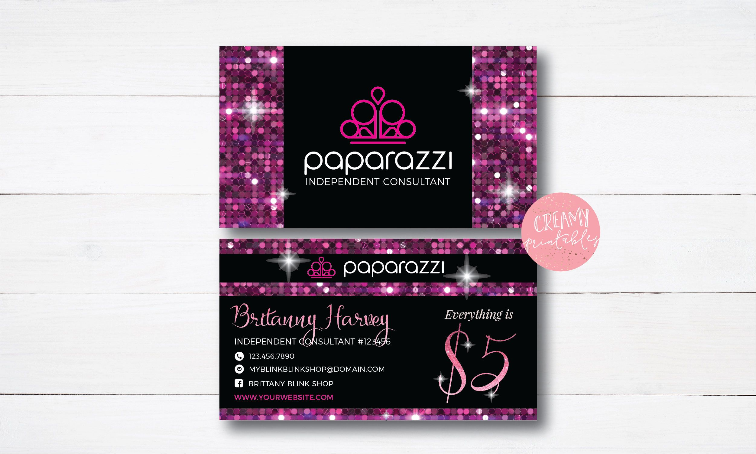 Printable paparazzi care card paparazzi join my team card excited to share the latest addition to my etsy shop paparazzi business cards free personalized paparazzi jewelry consultant card ombre sequin colourmoves