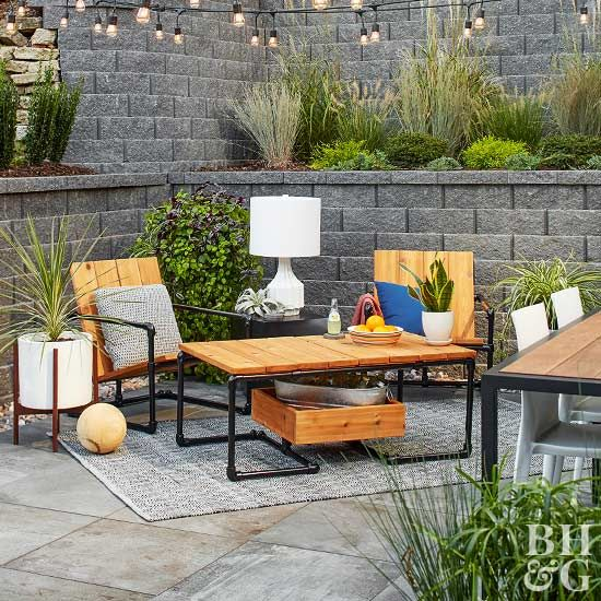 how to make an industrial outdoor coffee table pretty patios rh pinterest com