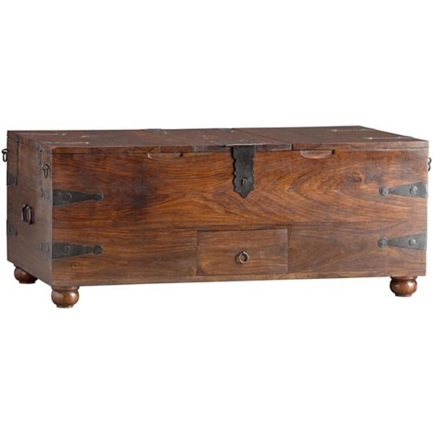 This is a Crate & Barrel Taka Trunk Coffee Table for $200 00 This