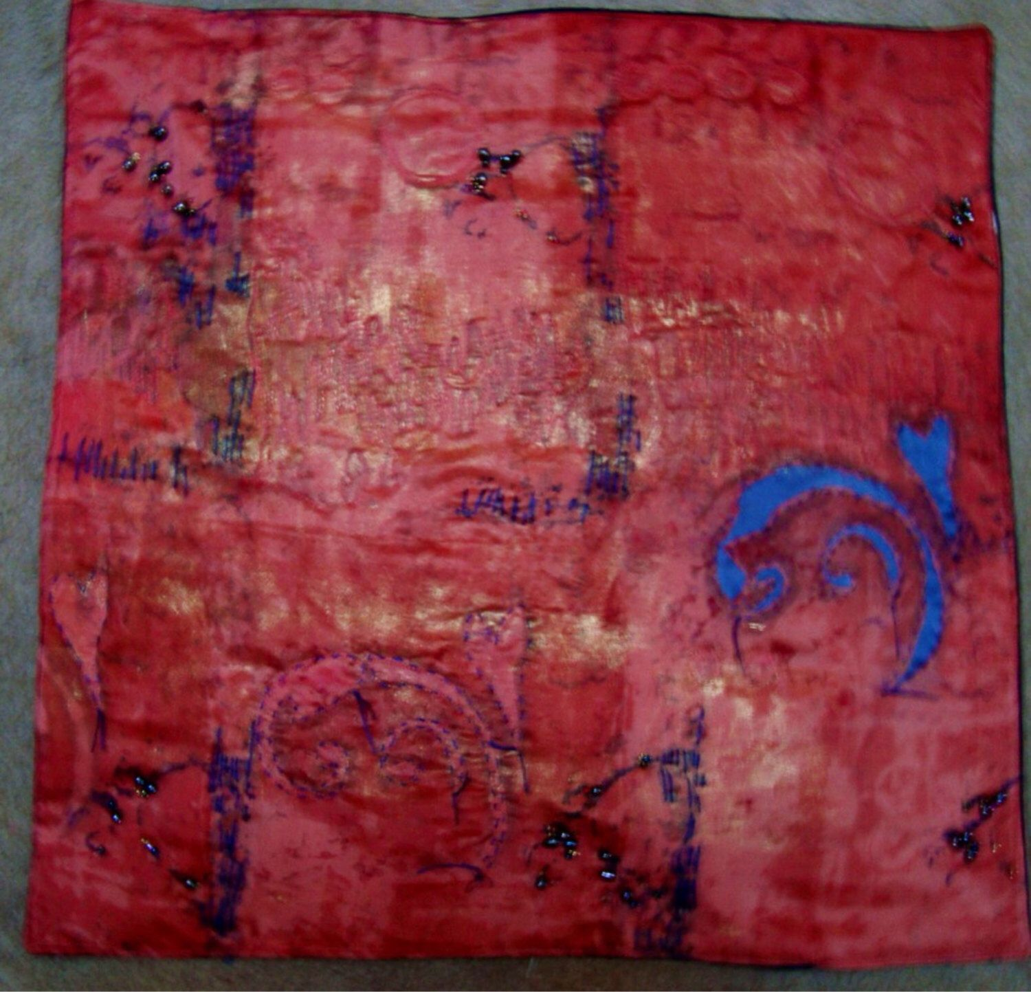 erosion reverse applique hand quilting surface design on hole in the wall cap oriental id=32857