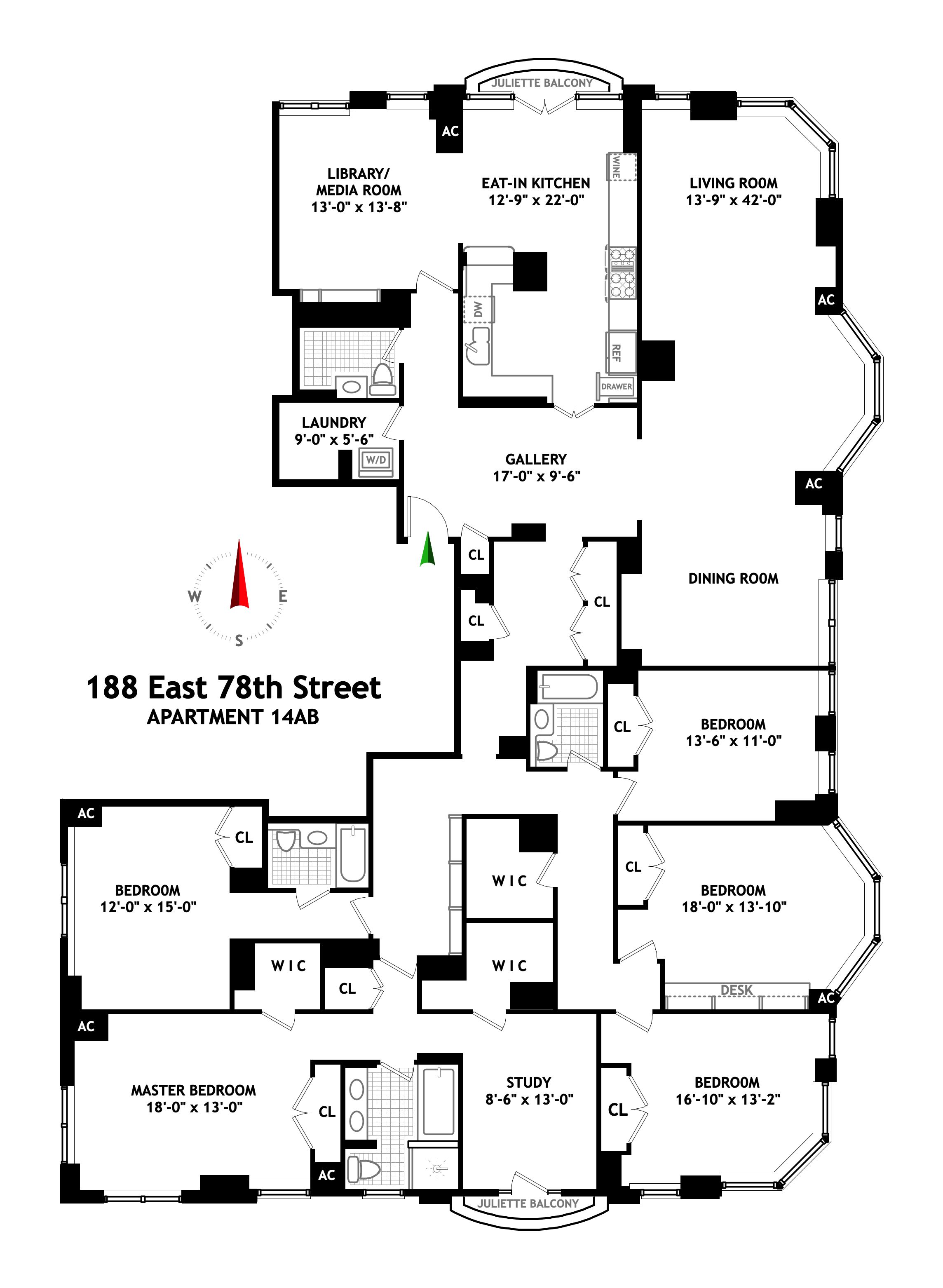 Corcoran 188 East 78th Street Apt 14ab Upper East Side Rentals