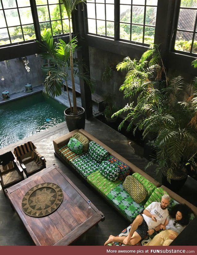 This Tropical Warehouse Villa in Canguu, Bali - Fu