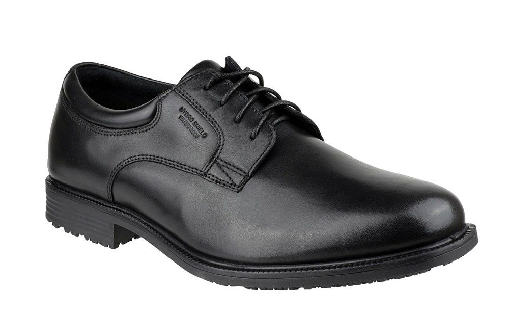 Rockport V76115 Mens Essential Details Waterproof Lace Up Shoe - Black - 7