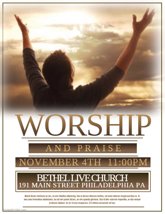 Worship Event Church Flyer Click on the image to customize on - event flyer template word