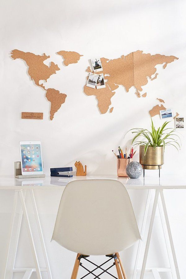 Cork board world map get to work pinterest cork boards cork board world map gumiabroncs Image collections