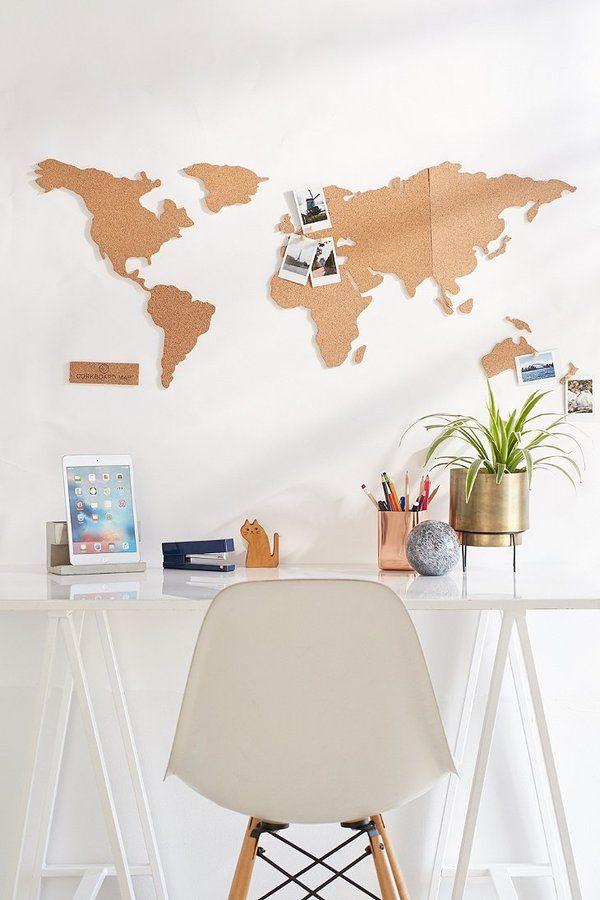 Cork Board World Map | • get to work • | Pinterest | Cork boards ...