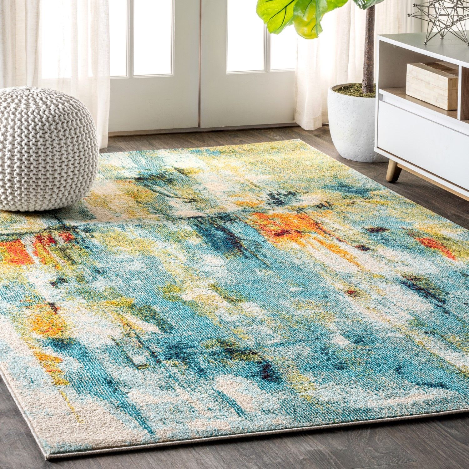 Holland Modern Abstract Waterfall Rug Eyely Area Rugs Rugs Colorful Rugs