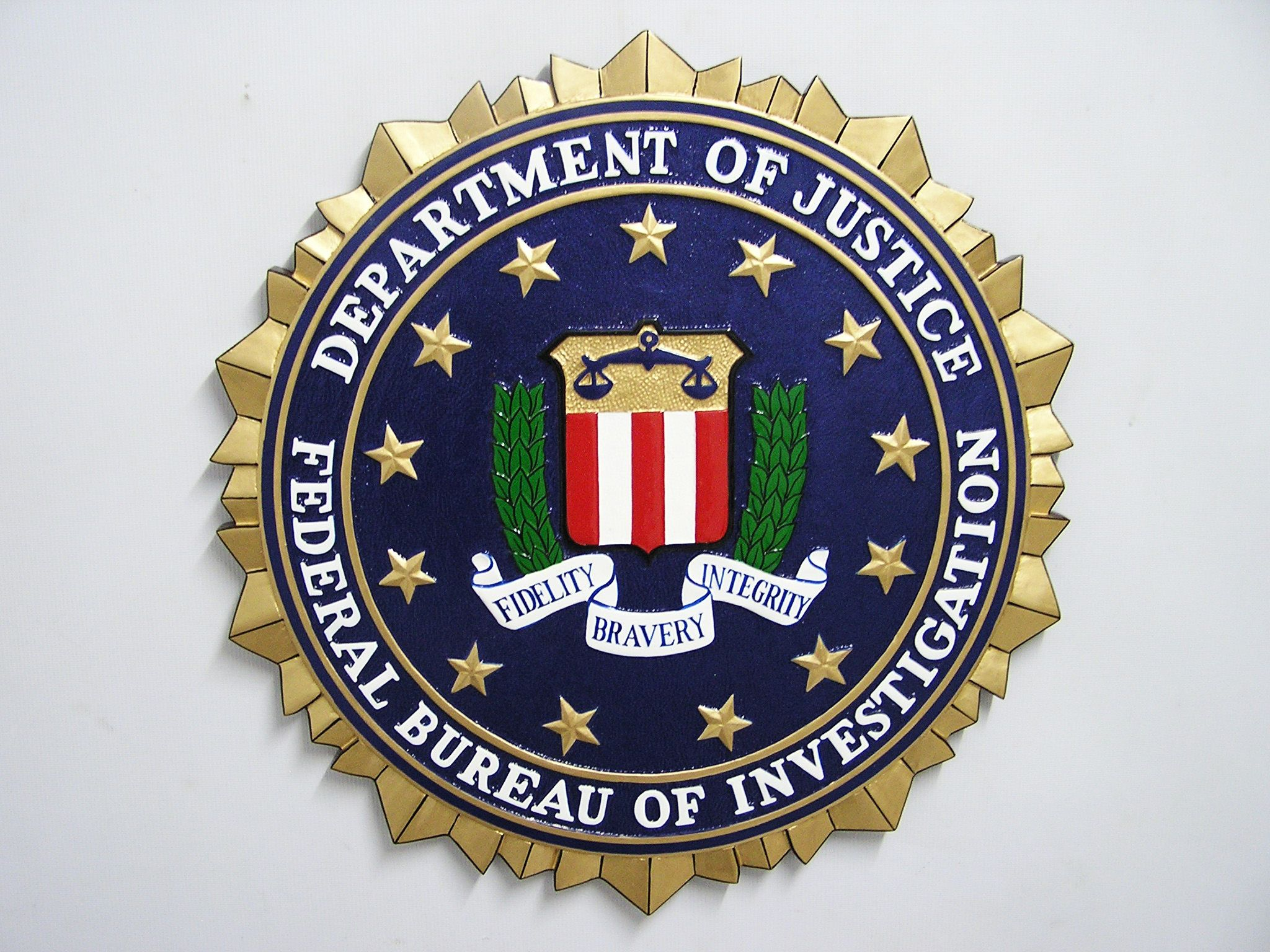 US Marshal Department of Justice Seal Plaque | FBI Wooden