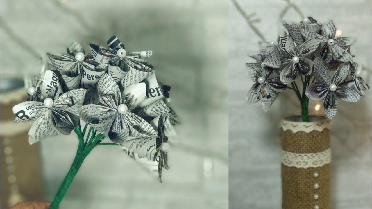 Contoh Gambar Vas Bunga Dari Koran Bekas Di 2020 Wallpaper Bunga