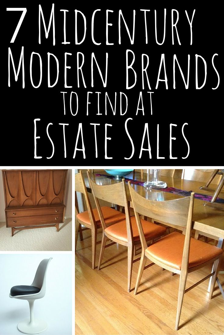 7 Midcentury Modern Brands At Estate S