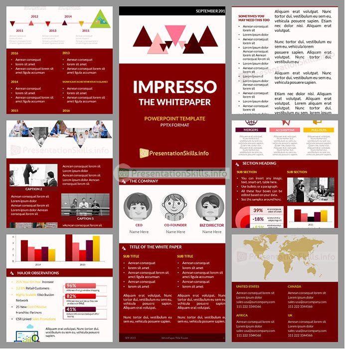 Impresso- FREE #WhitePaper Powerpoint #Template http - white paper template