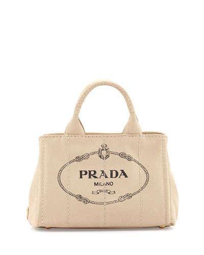 c6faa1c13dca ... discount 14 unapologetic logo designer bags prada canvas mini logo tote  with strap 695 at neiman