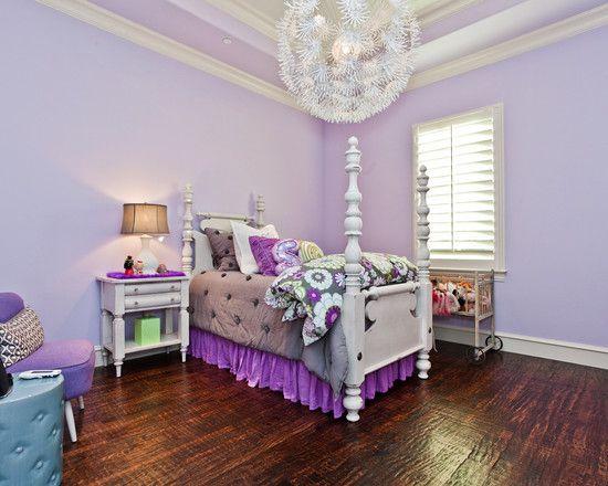 Pink And Purple Girls Room Walls Bedrooms