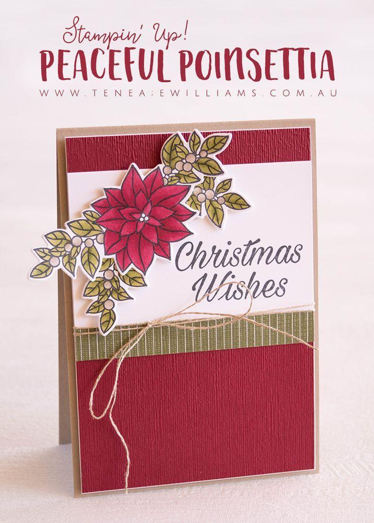 Peaceful Poinsettia | Xmas card ideas | Pinterest | Christmas Cards ...