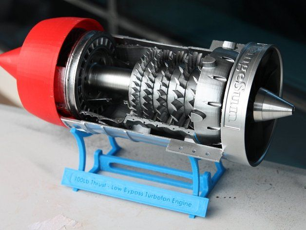 Low Bypass Turbofan Jet Engine by gahwar - Thingiverse   Low