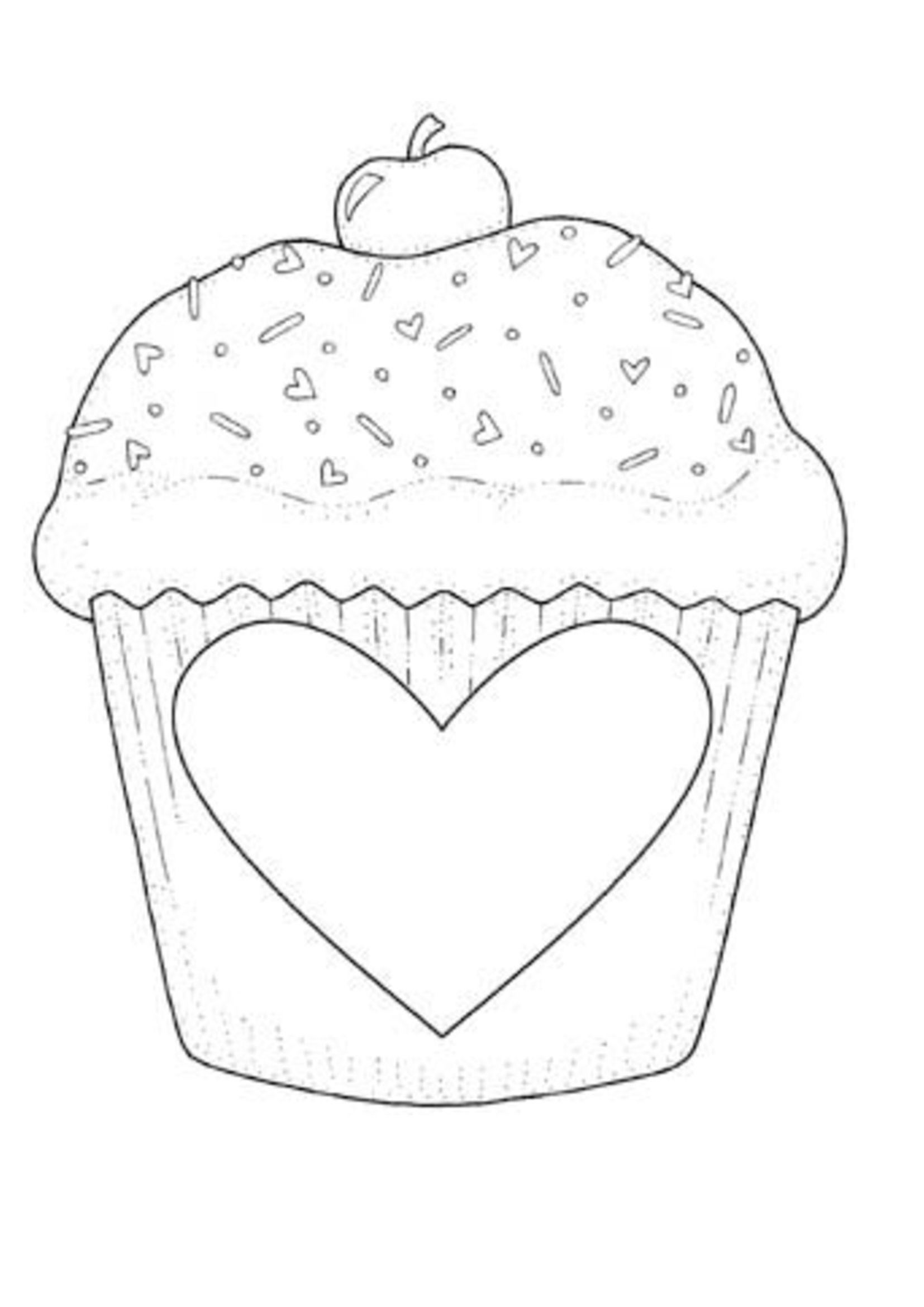 Шаблон кекса для открытки, днем рождения