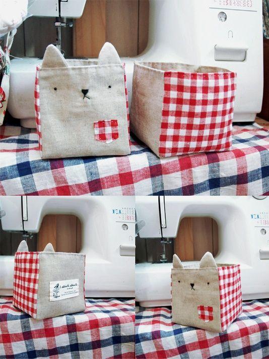 Kitty thread catcher | { diy girl! } | Pinterest | Aufbewahrungsbox ...