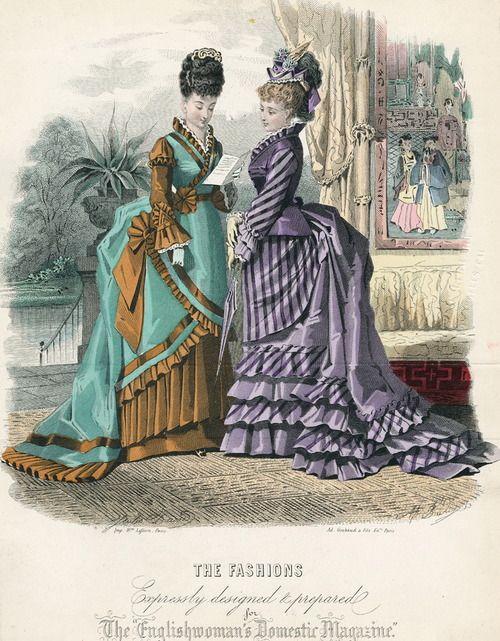 4a6b8dc2ad Fashions of 1874 Moda De Inglaterra