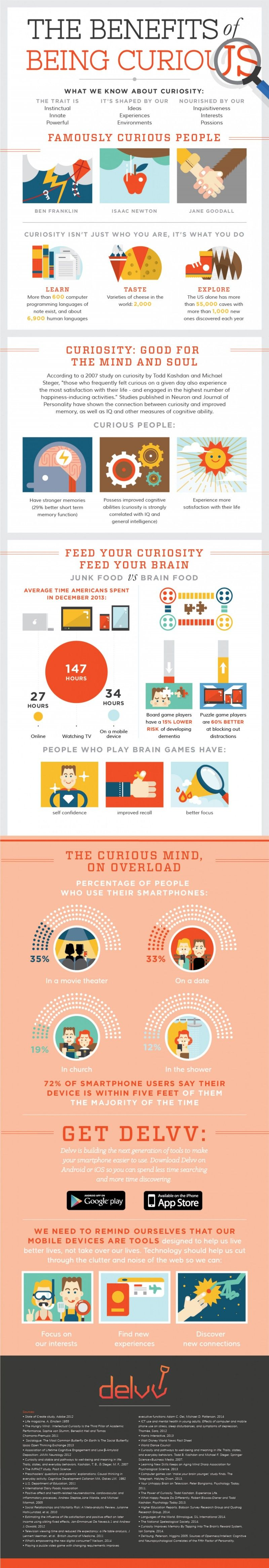 The Benefits of Being Curious #infographic