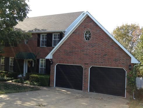 Black Garage Door Lake House Pinterest Grey Garage Door Red Brick House Black Garage Doors Garage Door Colors