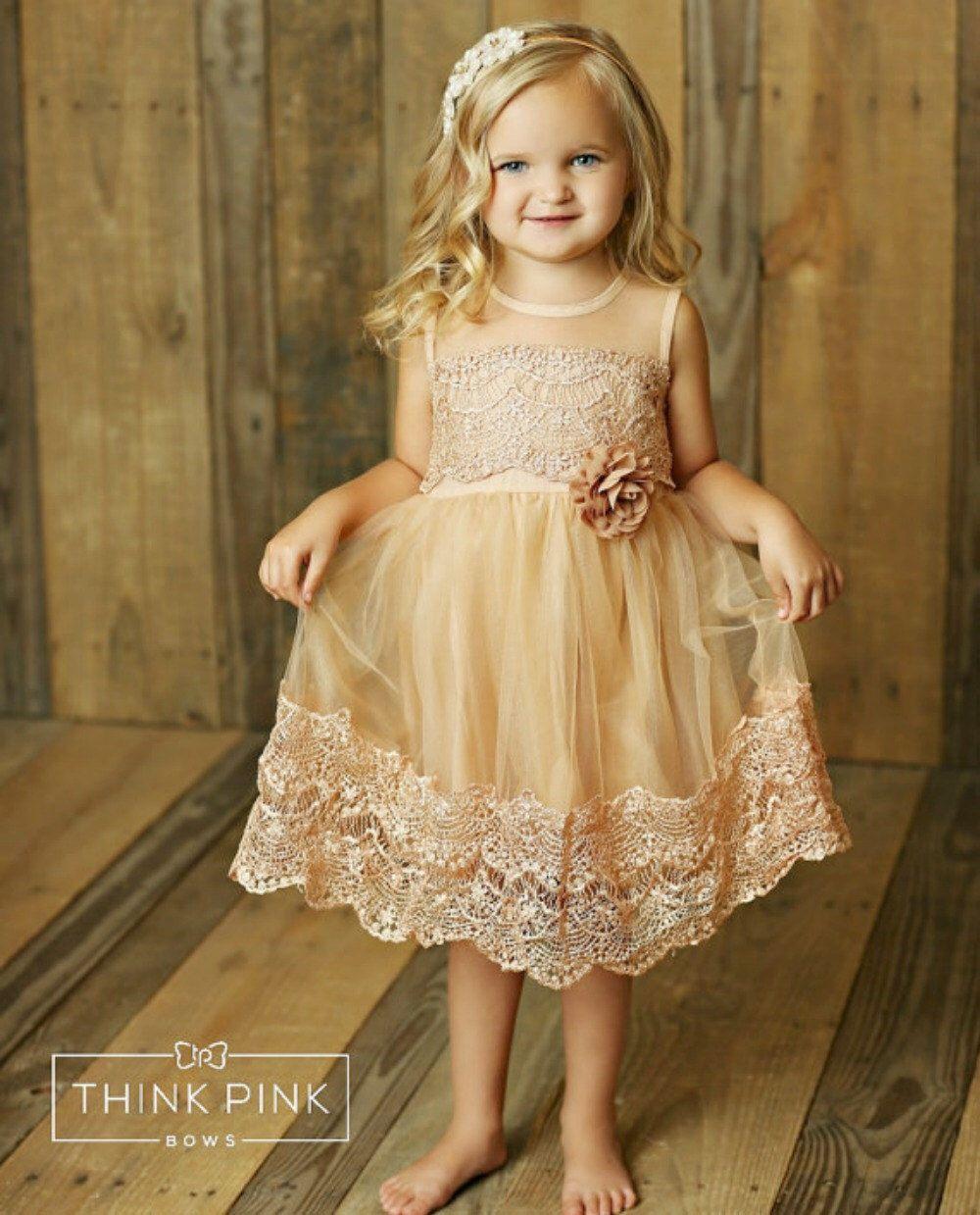 Lace dress for baby girl  Flower girl dress lace flower girl dress country flower girl dress